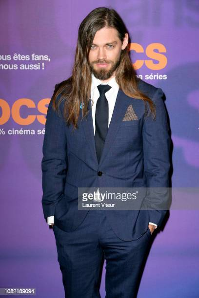 Actor Tom Payne attends 'OCS 10th Anniversary' at Pavillon d'Armenonville on December 13 2018 in Paris France