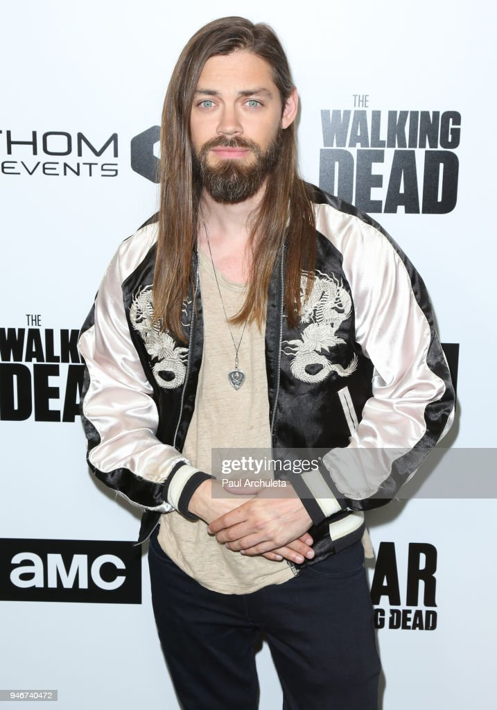 Actor Tom Payne attends 'Survival Sunday: The Walking Dead and Fear The Walking Dead' at AMC Century City 15 theater on April 15, 2018 in Century City, California.