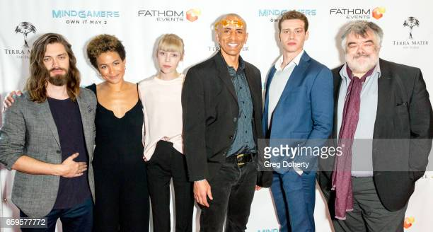Actor Tom Payne Producer Anouk Shad Actress Antonia CampbellHughes Director Andrew Goth Actor Oliver Stark and Terra Mater CEO Walter Koehler arrives...