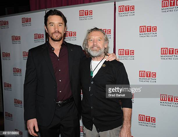 Actor Tom Pelphrey and Grodon Jeseph Weiss attend the 'Fool For Love' Broadway opening night after party at Urbo NYC on October 8 2015 in New York...