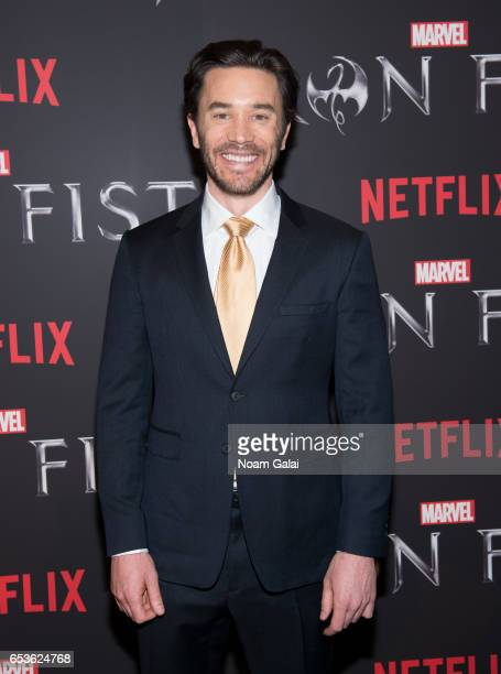 "Actor Tom Pelphrey attends Marvel's ""Iron Fist"" New York screening at AMC Empire 25 on March 15, 2017 in New York City."