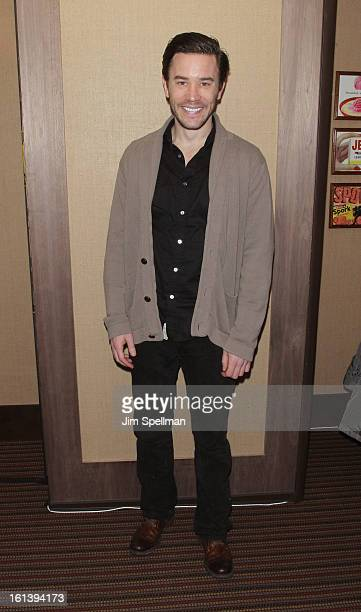 Actor Tom Pelphrey attends the Spontaneous Construction premiere at Guys American Kitchen Bar on February 10 2013 in New York City