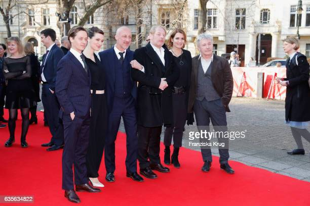 Actor Tom Schilling actress Friederike Becht director Oliver Hirschbiegel actor Ben Becker actress Anja Kling and actor Joerg Schüttauf attend the...