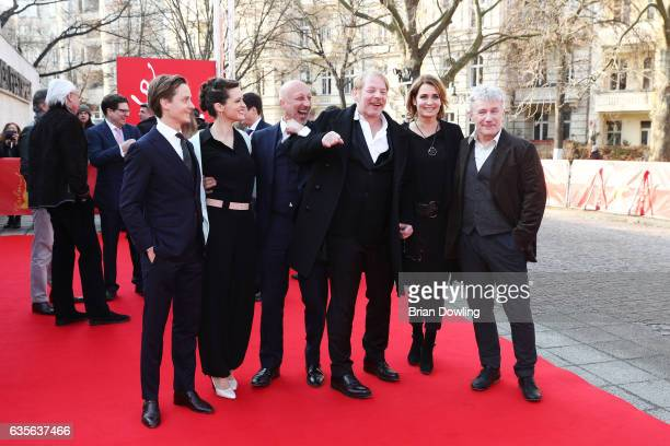 Actor Tom Schilling actress Friederike Becht director Oliver Hirschbiegel actor Ben Becker actress Anja Kling and actor Joerg Schüttauf attend the...