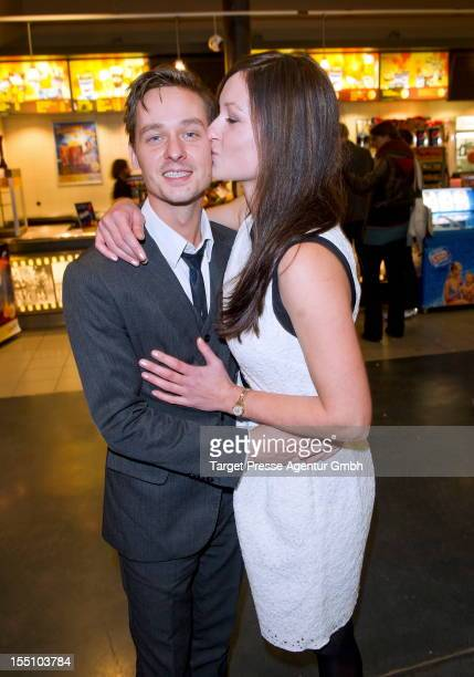 Actor Tom Schilling and his girlfriend Annie Mosebach attend the 'Oh Boy' Premiere at Kulturbrauerei on October 31 2012 in Berlin Germany