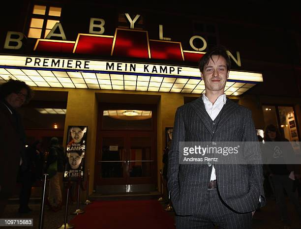 Actor Tom Schilling attends the 'Mein Kampf' Berlin premiere at cinema Babylon on March 2 2011 in Berlin Germany
