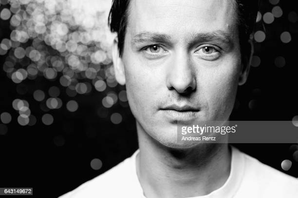 Actor Tom Schilling poses at the 'The Same Sky' portrait session during the 67th Berlinale International Film Festival Berlin at Berlinale Palace on...