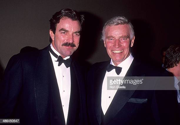 Actor Tom Selleck and actor Charlton Heston attend the Center for the Study of Popular Culture and the National Review Institute's 'The Dream Factory...