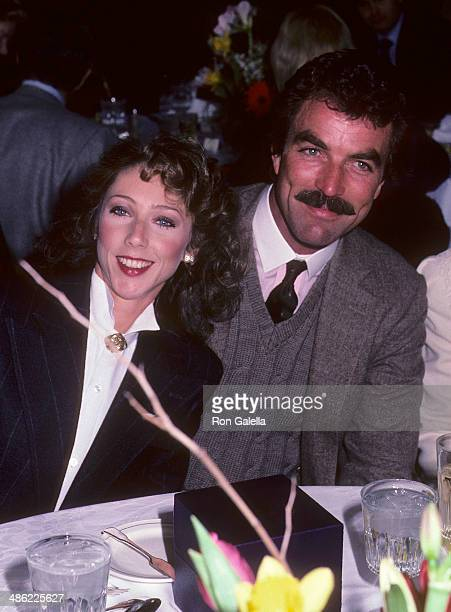 Actor Tom Selleck and girlfriend Jillie Mack attend Patricia Neal's 59th Birthday Party on January 20, 1985 at the Watergate Hotel in Washington, DC.
