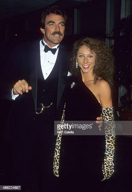 Actor Tom Selleck and girlfriend Jillie Mack attend the 41st Annual Golden Globe Awards on January 28, 1984 at the Beverly Hilton Hotel in Beverly...