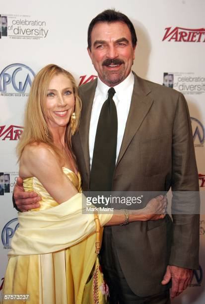 Actor Tom Selleck and his wife Jillie Mack attends the Producers Guild Of America Presents 2006 Celebration of Diversity May 9 2006 at the Beverly...