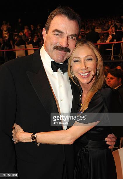 Actor Tom Selleck and wife attend the 7th Annual TV Land Awards held at Gibson Amphitheatre on April 19 2009 in Universal City California