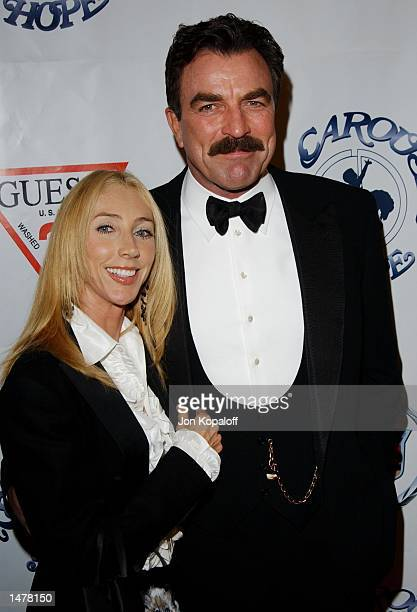 Actor Tom Selleck and wife attend the Carousel Of Hope benefitting the Barbara Davis Center For Childhood Diabetes at the Beverly Hilton Hotel on...