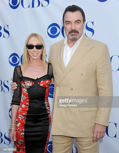 Actor Tom Selleck and wife Jillie Mack arrive at the Blue Bloods Special Screening And Panel Discussion at Leonard H Goldenson Theatre on June 5 2012...