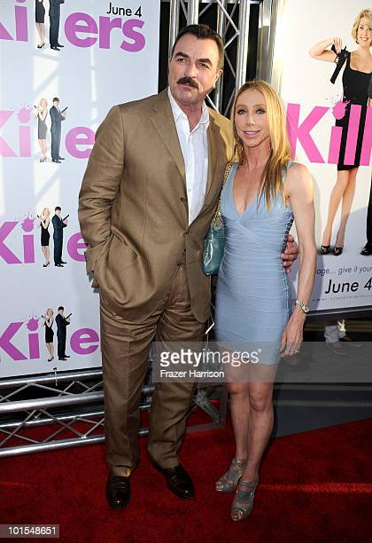 Actor Tom Selleck and wife Jillie Mack arrive to the premiere of Lionsgate's Killers held at ArcLight Cinema's Cinerama Dome on June 1 2010 in...