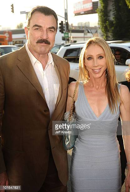 Actor Tom Selleck and wife Jillie Mack arrives at the Los Angeles premiere of Killers held at ArcLight Cinemas Cinerama Dome on June 1 2010 in...