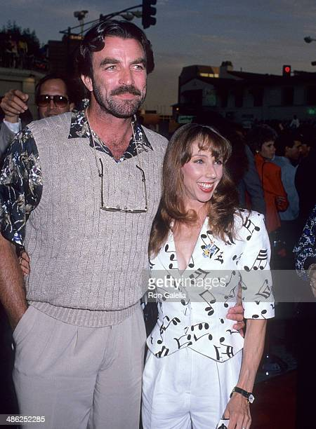 Actor Tom Selleck and wife Jillie Mack attend the Batman Westwood Premiere on June 19 1989 at the Mann Village Bruin Theatres in Westwood California