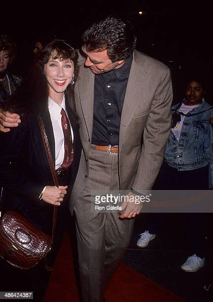 Actor Tom Selleck and wife Jillie Mack attend the Quigley Down Under West Hollywood Premiere on October 17 1990 at the DGA Theatre in West Hollywood...