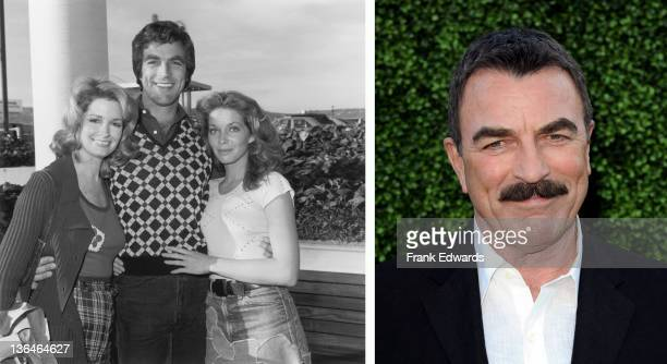 In this composite image a comparison has been made of actor Tom Selleck Many of today's leading Hollywood stars began their careers in daytime...
