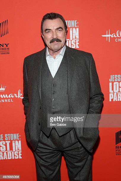 """Actor Tom Selleck attends the """"Jess Stone: Lost In Paradise"""" New York Premiere at Roxy Hotel on October 14, 2015 in New York City."""