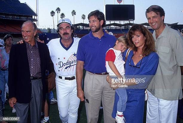 Actor Tom Selleck father Robert brother Daniel sister Martha and son Logan and brother Robert Jr attend the 35th Annual Hollywood Stars Night...
