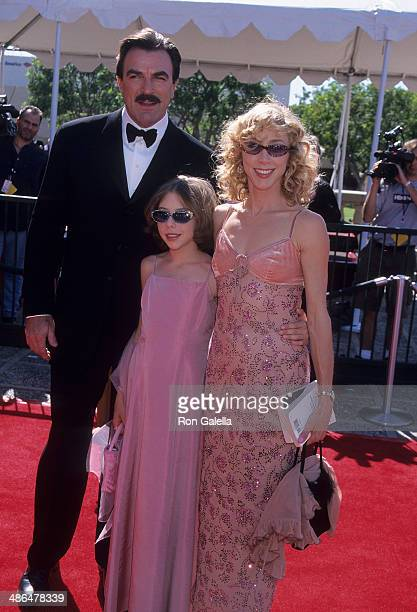 Actor Tom Selleck wife Jillie Mack and daughter Hannah attend the 52nd Annual Primetime Emmy Awards Creative Arts Emmy Awards on August 26 2000 at...