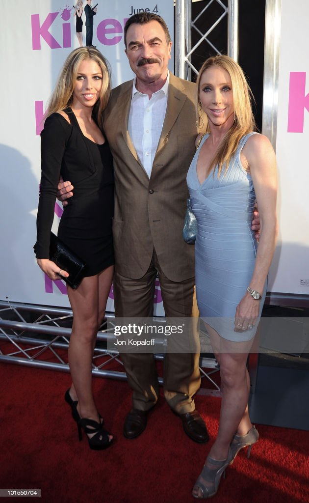 Actor Tom Selleck (c), wife Jillie Mack (r) and daughter Hannah Selleck arrive at the Los Angeles Premiere 'Killers' at the ArcLight Cinemas Cinerama Dome on June 1, 2010 in Hollywood, California.