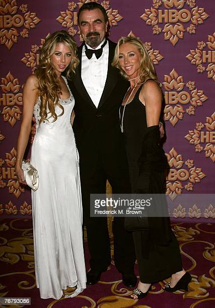 Actor Tom Selleck with wife Jillie Mack and daughter attend The HBO Emmy after party at the Pacific Design Center on September 16 2007 in Los Angeles...