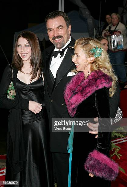 Actor Tom Selleck with wife Jillie Mack and daughter Hannah arrive at the 31st Annual People's Choice Awards held in the Pasadena Civic Auditorium on...