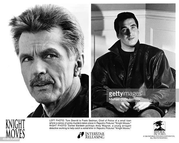 Actor Tom Skerritt on set actor Daniel Baldwin on set of the movie 'Knight Moves' circa 1992