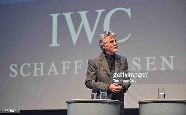 Actor Tom Skerritt speaks at the IWC Schaffhausen Top Gun Gala Event during the 22nd SIHH High Jewellery Fair at the Palexpo Exhibition Hall on...