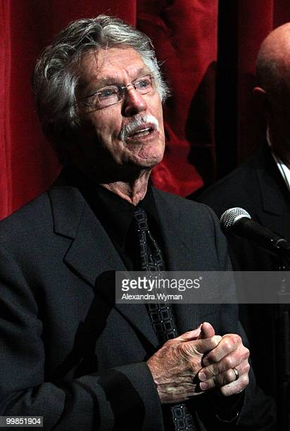 Actor Tom Skerritt speaks onstage before the screening of 'Top Gun' during AFI Walt Disney Pictures' 'A Cinematic Celebration of Jerry Bruckheimer'...