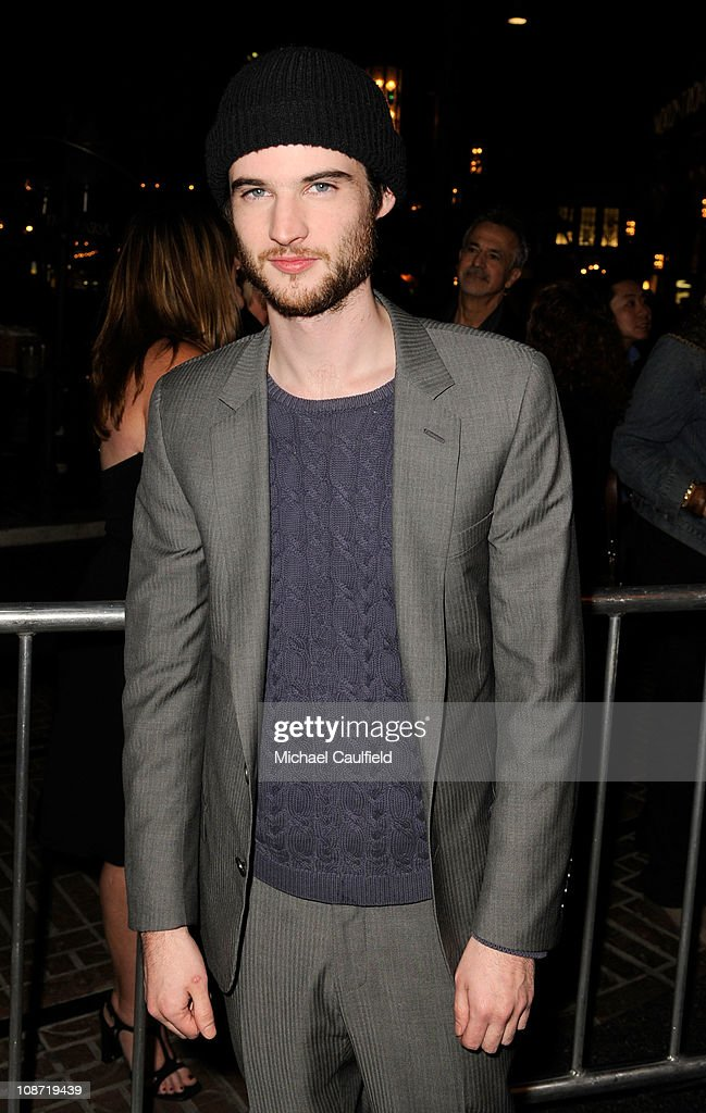 Actor Tom Sturridge arrives at the Los Angeles Premiere of 'Waiting For Forever' held at the Pacific Theatres at The Grove on February 1, 2011 in Los Angeles, California.