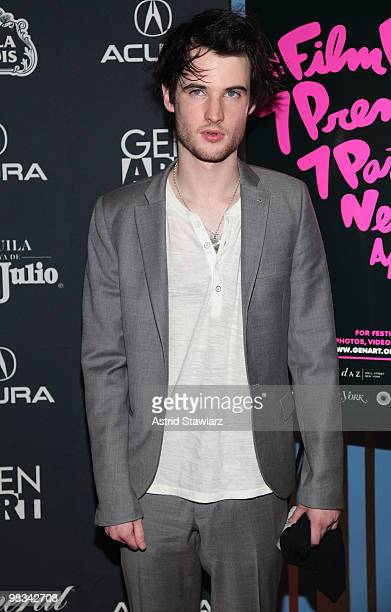 Actor Tom Sturridge attends the Gen Art Film Festival screening of 'Waiting for Forever' at the School of Visual Arts Theater on April 8 2010 in New...