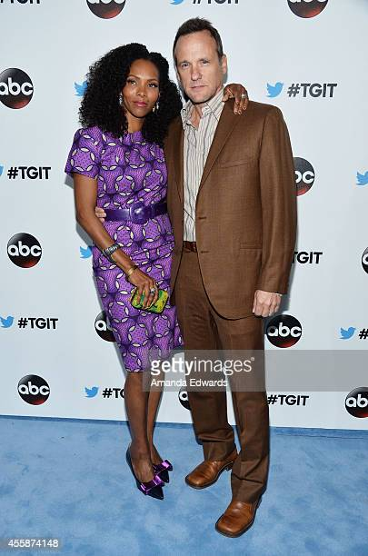 Actor Tom Verica and Kira Arne arrive at the #TGIT Premiere Event hosted by Twitter at Palihouse Holloway on September 20 2014 in West Hollywood...