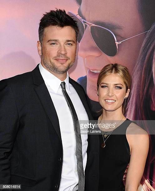 Actor Tom Welling and guest attend the premiere of 'The Choice' at ArcLight Cinemas on February 1 2016 in Hollywood California