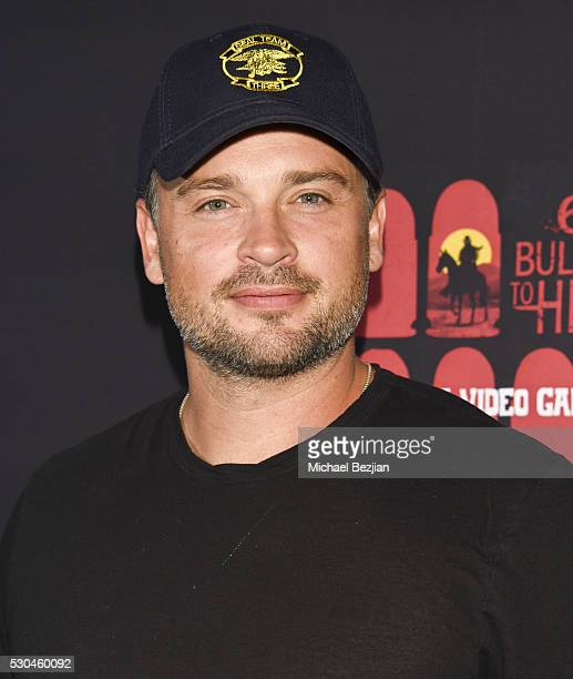 Actor Tom Welling arrives at the '6 Bullets To Hell' Mobile Game Launch Party on May 10 2016 in Los Angeles California