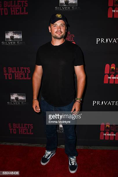 Actor Tom Welling attends the launch of '6 Bullets to Hell' on May 10 2016 in Los Angeles California