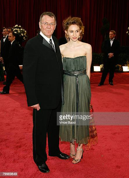Actor Tom Wilkinson and daughter Alice Wilkinson arrive at the 80th Annual Academy Awards held at the Kodak Theatre on February 24 2008 in Hollywood...