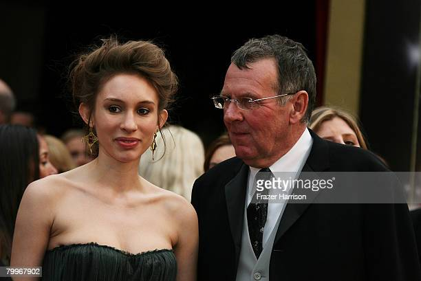 Actor Tom Wilkinson and daughter Alice Wilkinson arrives at the 80th Annual Academy Awards held at the Kodak Theatre on February 24 2008 in Hollywood...
