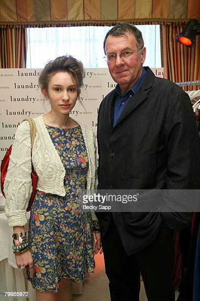 Actor Tom Wilkinson and daughter Alice Wilkinson attend The Belvedere Luxury Lounge in honor of the 80th Academy Awards featuring Laundry by Design...