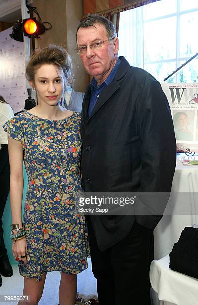 Actor Tom Wilkinson and daughter Alice Wilkinson attend The Belvedere Luxury Lounge in honor of the 80th Academy Awards featuring Working Wardrobes...