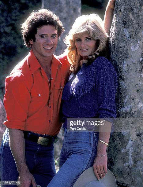 Actor Tom Wopat and Actress Randi Brooks Pose for an Exclusive Photo Session on April 16 1983 at Crestwood Hills Park in Los Angeles California