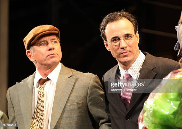 Actor Tom Wopat and composer John Bucchino take the curtain call at the opening night of A Catered Affair at the Walter Kerr Theater on April 17 2008...