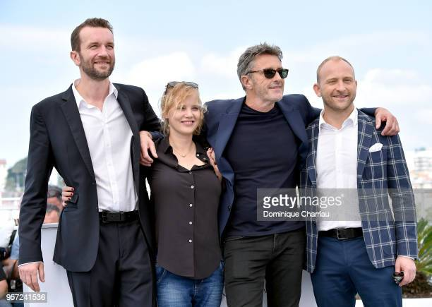 "Actor Tomasz Kot, actress Joanna Kulig, director Pawel Pawlikowski and actor Borys Szyc attend the photocall for ""Cold War "" during the 71st annual..."