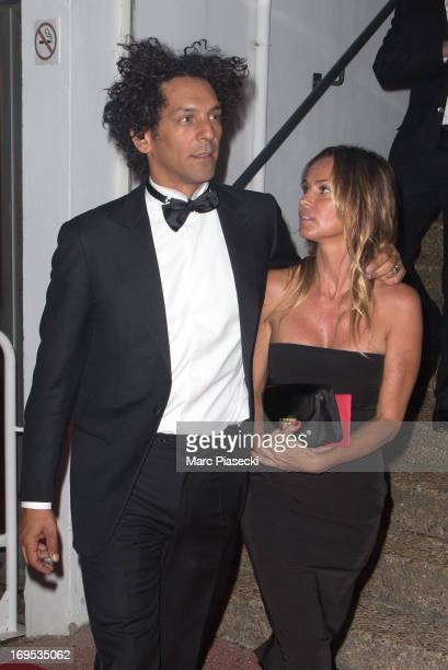 Actor Tomer Sisley and Agathe de la Fontaine arrive at the 'Agora' dinner during the 66th Annual Cannes Film Festival on May 26 2013 in Cannes France