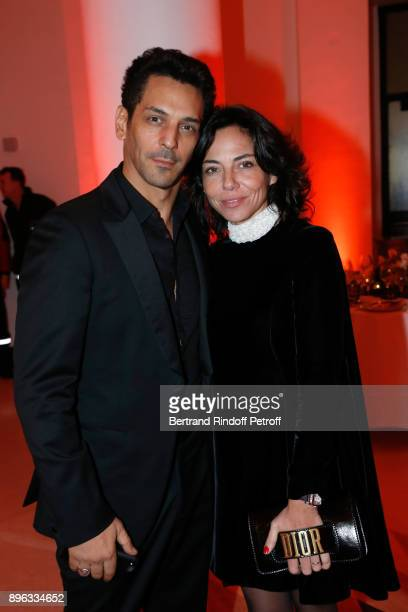 Actor Tomer Sisley and his wife Sandra attend the Gala evening of the PasteurWeizmann Council in Tribute to Simone Veil at Salle Pleyel on December...