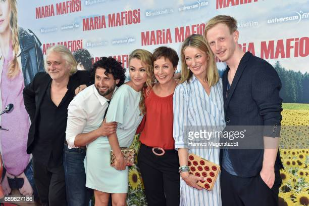 Actor Tommaso Ragno Serkan Kaya Lisa Maria Potthoff Jule Ronstedt Monika Gruber and David Zimmerschied during the 'Maria Mafiosi' Premiere at...