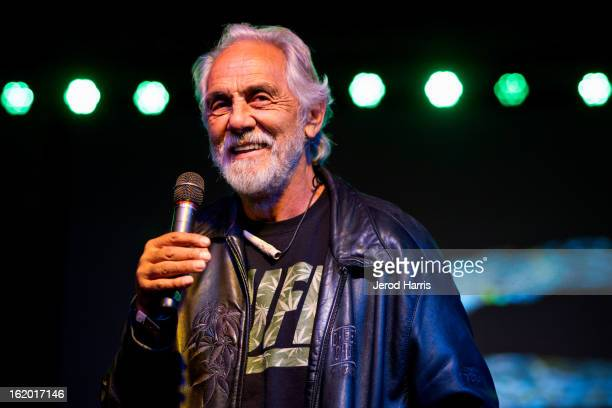 Actor Tommy Chong accepts the 'Lifetime Acheivement' award at the 2nd Annual High Times Los Angeles Medical Cannabis Cup Awards at National Orange...
