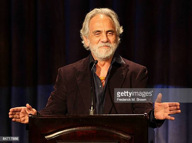 Actor Tommy Chong speaks during the California Rural Legal Assistance Teguino Celebration Gala at the Beverly Hilton Hotel on February 9 2009 in...